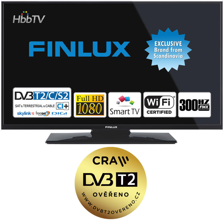 Finlux TV43FFC5660 - T2 SAT HBB TV SMART WIFI SKYLINK LIVE